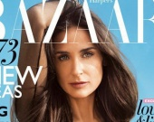 Деми Мур на обложке нового выпуска Harper`s Bazaar