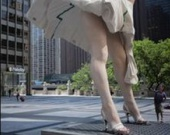 В Чикаго появилась гигантская Мэрилин Монро